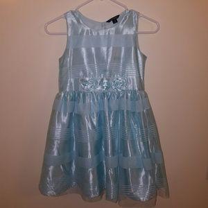 Gorgeous Metallic Blue Dress